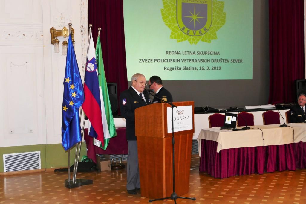 Redna letna skupščina Zveze policijskih veteranskih društev SEVER – Rogaška Slatina 2019