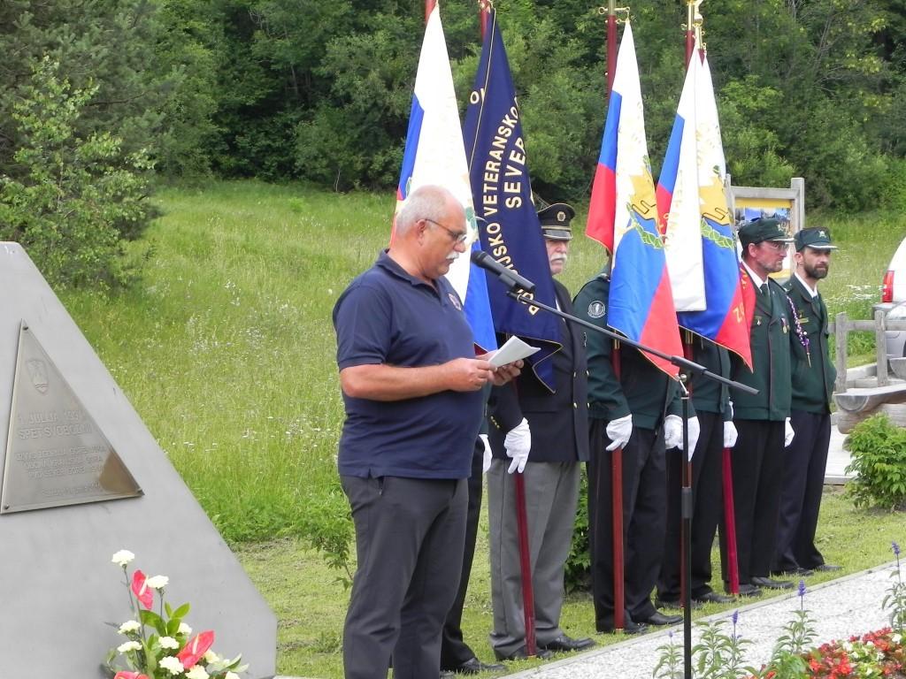Spominska slovesnost na nekdanjem mejnem prehodu Rateče