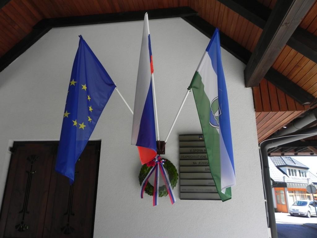 Spominska slovesnost na nekdanjem mejnem prehodu Jezersko